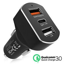 8.4A USB C & Quick Charge 3.0 Car Charger For 2018 New Macbook Pro 13 15 TouchID