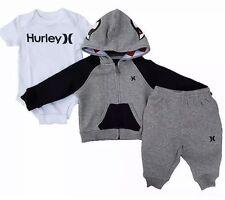 Hurley Infant Boy 3 Pc Deluxe Set Hoodie Bodysuit Pants Sz 0-6 NIB