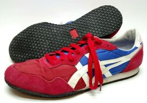 Asics Onitsuka Tiger Mens Athletic Shoes Size 12 Red White Blue Lace Up D109L