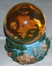 Lions Wind Up Music Water Snow Globe Tune Somewhere Out There (American Tale)