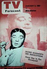 TV Guide 1953 Pre National Jackie Gleason TV Forecast V3N105 Bishop Fulton Sheen