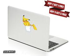 Macbook Air Pro Vinyl Skin Sticker Decal Pokemon Go Game Pikachu Cute CMAC036