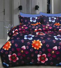 New Floating Flower Microfibre DOUBLE Size Quilt Doona Cover Set
