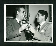 Phil Rizzuto & NY Mayor Vincent Impellitteri Wire Photo Sporting News Yankees