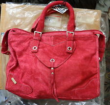 just one on Ebay Roberto Cavalli Ultra soft suede  w/leather  HANDBAG RED