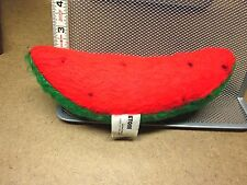 ETONE vtg plush Watermelon Slice doll 1970s stuffed animal New Jersey OG