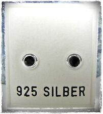 NEU 925 Silber OHRSTECKER 3mm SWAROVSKI STEINE jet/schwarz OHRRINGE