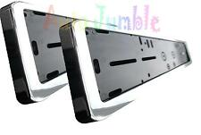 HONDA CIVIC TYPE-R 2X PLASTIC chrome number plate surrounds holder Frames