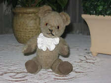 Antique 26 cm Thuringia Germany Gray Mohair Bear 1960s