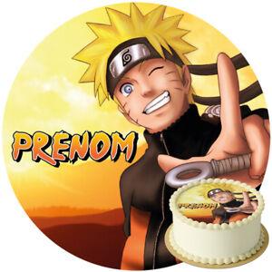 Disque azyme Naruto personnalisable 20 cm décoration gâteau