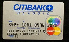CITIBANK Classic MasterCard credit card exp 1996♡free ship♡cc1099♡