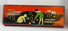 Vintage 1932 Milton Bradley Floor Croquet & Other Indoor Games
