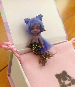 [STOCK]Mermaid Xiaoxi black full-set【Gulliver】OB11 size mini YO-SD 5cm BJD doll