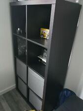 IKEA Kallax 8 Shelf Storage Bookcase Brand New Colour Black