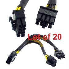 Lot of 20 6' EPS 12V 8 pin to Dual 8 pin Y Splitter Power Cable YEP-S828 @ $5.50