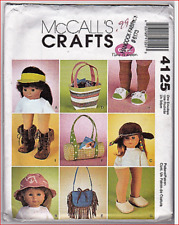 "McCall's 4125 Doll Clothes Pattern for 18"" Dolls ~ Accessories"