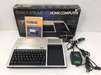 Vintage Texas Instruments TI-99/4A Home Computer In Box W/Manual +