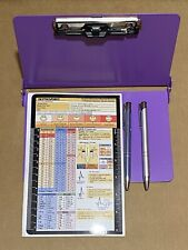 Purple Lilac Foldable Nursing Clipboard With 2 Pens, and Reference Guides