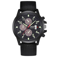 Men's Military Steel Watch Date Quartz Analog Cool Army Sport Dress Wrist Watch
