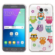 Slim Fit TPU Gel Phone Case for Samsung Galaxy J3 Emerge - Happy Owl