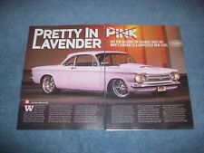 "1963 Chevy Corvair Custom Pro Touring Article ""Pretty in Lavender"" V8 Powered"