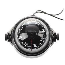 Kompass Kugelkompass Compass Bootskompass Schwarz KFZ Navigation & LED Licht D7R