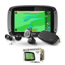 Tomtom Rider 400 Premium Pack Motorcycle GPS Sat Nav Lifetime UK Europe 45 Maps