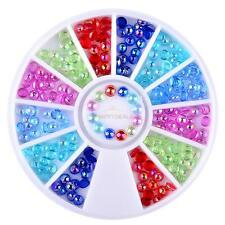 3D Nail Art Rhinestones Glitters Resin Tips Decoration Manicure Wheel New Hot