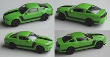 MAJORETTE-Ford Mustang Boss segnale Verde con cerchi neri