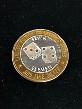 1995 GRAND CASINO LIMITED EDITION COLLECTOR'S SERIES TOKEN .999 SILVER 7/11