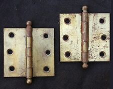 """14 Pairs available Antique Vintage 2.5""""x2.5"""" Stanley Window Cabinet Door Hinges"""