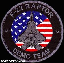 USAF F-22 DEMONSTRATION TEAM -1st FIGHTER WING - Langley AFB, VA - BLACK PATCH