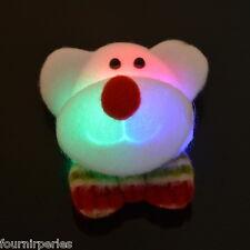 1 Broche Lumière Briller Ours Noël Cadeau Partie Accessoire Bijoux 7.5x7cm