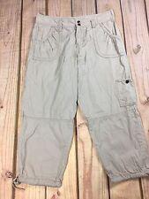 Calvin Klein Pants Women's Beige Casual Cargo Capri Flap POckets Size 6