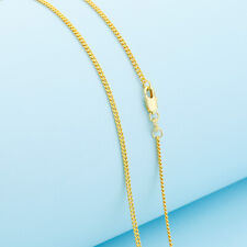 Wholesale 1P 16-30inch Wholesale Jewelry 18K GOLD FILL Flat Curb Chain Necklaces