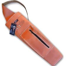 CAROL TRADITIONAL ARCHERY LEATHER VINTAGE STYLE BACK ARROW QUIVER AQ147F TAN
