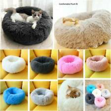 Haustier Plüsch Hundebett Kissen Weich Flauschig Tierbett Katze Bettnest Heiß P1