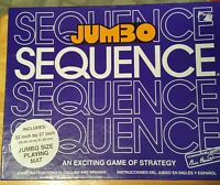 NEW Jumbo Sequence An Exciting Game Of Strategy (1996 Box Edition Jax) Nice!