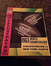 1963 NFL WORLD CHAMPIONSHIP PROGRAM BEARS vs GIANTS WRIGLEY FIELD 12/29/1963