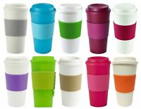 Copco Acadia Double Wall Insulated Hot or Cold To Go Travel Mug w Sleeve 16 oz