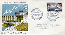 FRANCE FDC - 174 1078 2 BARRAGE DE DONZERE MONDRAGON - 6 10 1956