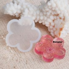5 Silikonformen Mould Blume Resin Fimo Basteln Abformen Neu