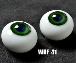 Nice 18mm Glass(Green Iris&Blue Pupil) Eyes for Reborn/NewBorn BJD Doll