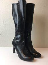 Franco Sarto Black Artist's Collection Zipper Knee High Boots Dover Sz 9M EU 41
