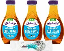 New listing Wholesome Organic Blue Agave Nectar, Syrup, Low Glycemic Sweetener, Gluten Free,