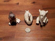 2 Lenox Handcrafted Figurines- Ivory color Swan &  Elephant & Goebel Buchfink.
