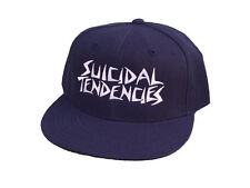 SUICIDAL TENDENCIES ajustable casquette cap-véritable bleu marine nouveau st og broderie thrash