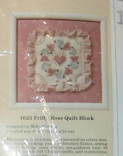 """Creative Circle #1025 Frilly Rose Quilt Block 9"""" x 9"""" Embroidery Kit"""