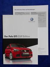 VW Polo GTI Cup Edition - Prospekt + Preisliste Brochure 06.2006