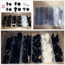 100 pcs Car Push Retainer Pin Rivet Trim Clip Panel Moulding Assortments Kit